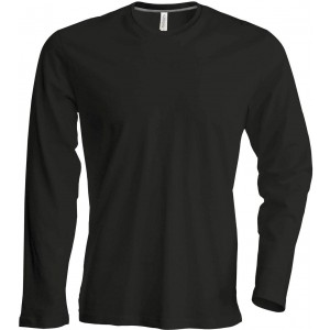 Kariban Férfi hosszúujjú póló, Black